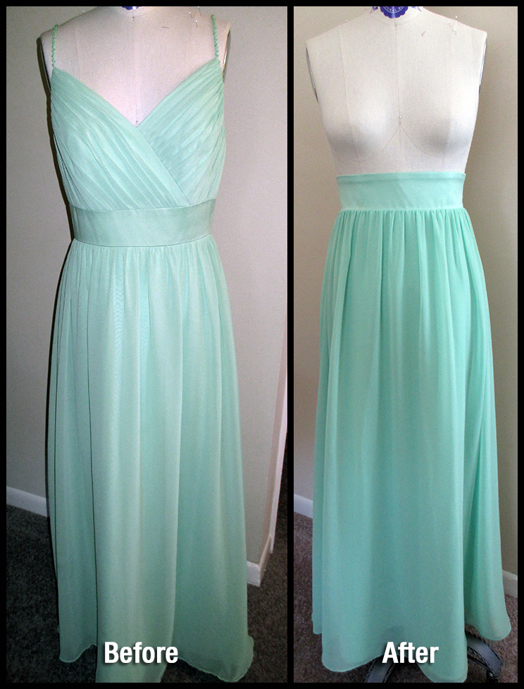 Prom dress alterations before and after
