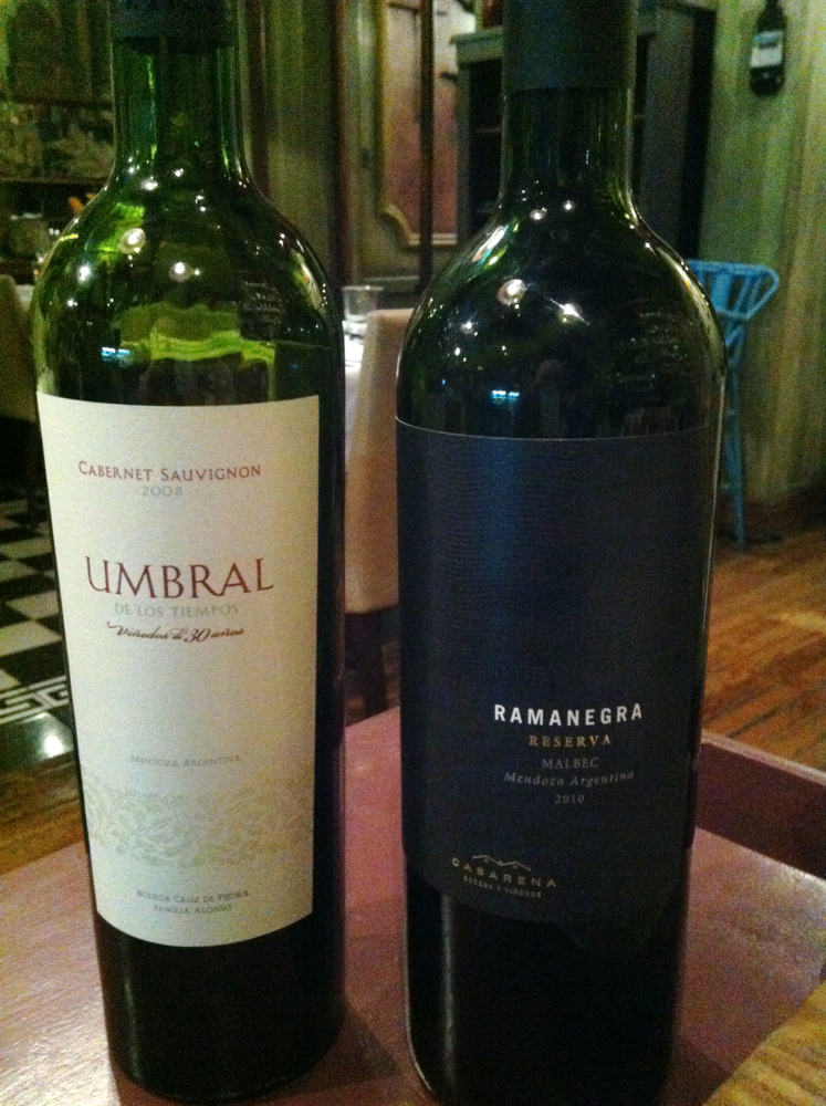 Wines at Azafran, Mendoza