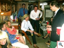 Tailgating in the Motor Home during some rain at Keeneland