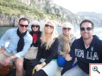 Chilly boat ride to Capri from Positano