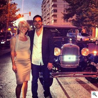 Jenny and Joe with the Ford Model A