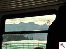 View of the Alps from our train