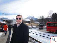 Nick at the Fussen train station