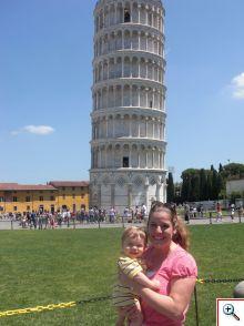 Courtney and Bennett in Pisa