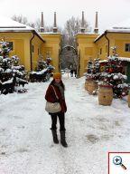 Jill in Schloss Hellbrunn