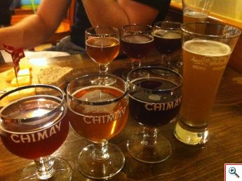 The beautiful colors of Chimay: Rouge, Triple, Bleau & Poteaupre