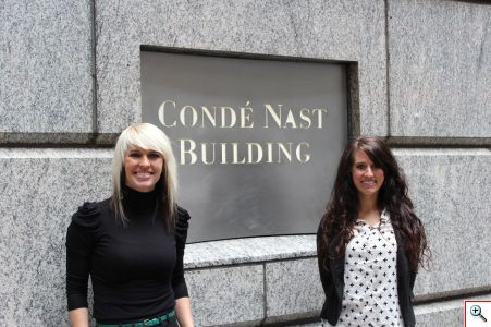 Jenny and Jill at the Condé Nast Building