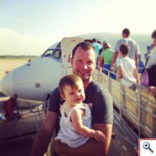 Nick & Elinor boarding a plane in Punta Gorda, FL