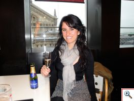 Jill with Bubbly at LaFayette cafeteria