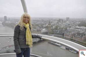 Amber on the London Eye - November 2010