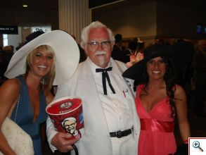 The Colonel himself at the Derby