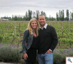 Julie & Jeff at Ruca Malen Bodega in Mendoza, Argentina
