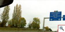 en route Paris to Reims on the A4
